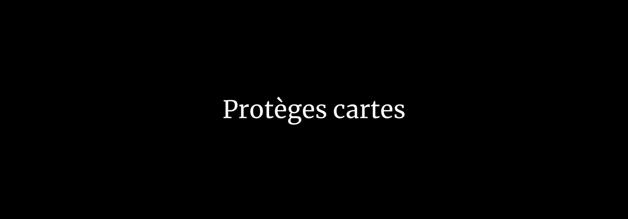 Protèges cartes